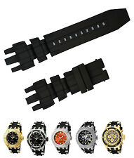 Black Silicone Rubber Watch Band Strap For Invicta Subaqua Reserve Analog 16830