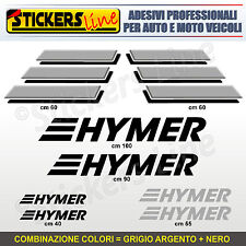 Kit completo 8 adesivi camper HYMER loghi M.2 stickers caravan roulotte decal