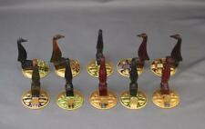 Set 10 Art Deco Carved Catalin Or Bakelite Place Card Holder Austria Enamel Gilt