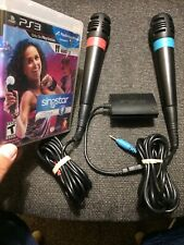 SingStar + Dance PlayStation 3 PS3 with both Microphones and adapter Sing Star