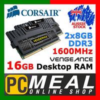 Corsair Vengeance 16GB 1600MHz DDR3 Desktop RAM 2 x 8GB Kit CL9 PC Memory DIMM