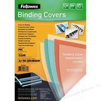 FELLOWES 53764 COPERTINE RILEGATURA PVC A3 TRASPARENTE O COLORATO