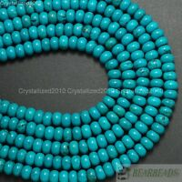 Natural Turquoise Gemstone Rondelle Spacer Beads 3mm 4mm 6mm 8mm 10mm 12mm 16""