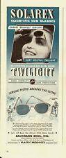 1940's Vintage ad for SOLAREX Scientific Sun Glasses/WWII era (051813)