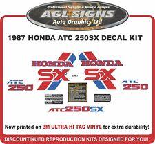 1987 HONDA ATC 250sx  Reproduction Decal Set  250 sx