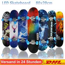 Skateboard für Kinder Erwachsene Skateboard Jugendliche Räder mit Lichtern ABEC7