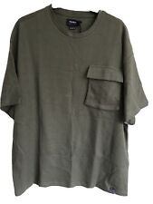 Pull And Bear Mens T Shirt Medium Green New With Tags