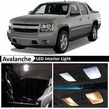 2007-2014 Chevy Avalanche White Interior + License LED Lights Package Kit