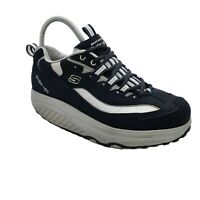 Skechers Shape- Ups Women's Toning Fitness Trainers UK 4 Blue Grey Walking