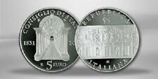 ITALIE 5 Euros Argent 180ème Anniversaire du Conseil Italien BE 2011