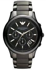 Nuevo Emporio Armani para hombres AR1452 Reloj con Cronógrafo Cerámica Negra - 100% Auténtico