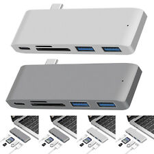 5 in 1 USB C Hub 3.0 Type-C Adapter Data Sync Cards Reader for Macbook Pro US