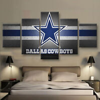 Dallas Cowboys Football 5 pcs Painting Printed Canvas Wall Art Home Decorative