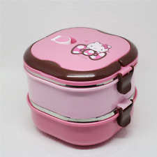 Hello Kitty Stainless steel 2 Layers Bento Lunch Box Picnic Container Portable