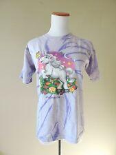 Vintage Unicorn Tie Dye Hipster Short Sleeve T-shirt Size Kids Large // Adult XS