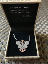Club 33 Exclusive Rebecca Hook Mickey Ears Necklace Disney Disneyland New W/ Bag