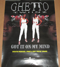 Ghetto Twinz Got It On My Mind, orig promotional poster, 1995, 18x24, Vg+, Ex