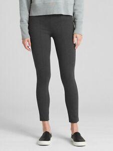 New GAP Women Charcoal Gray Ponte Size Zip Cotton Blend High Waist Leggings XS
