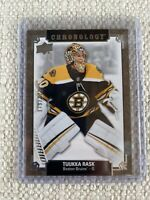 2019-20 CHRONOLOGY TUUKKA RASK /222 BASE BOSTON BRUINS #177