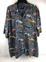 FORD by David Carey Men's Shirt Size 3X Mustang Cars Short Sleeve Button Front