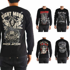 Long Sleeve Graphic Tee Motorcycle T-Shirts for Men