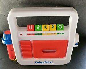 Fisher Price Tape Cassette Player Recorder with Microphone and Cassette  2017