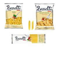 Banetti Pasta KIT Made of 3 Products 1x Fusilli, 1x Penne and 1x Spaghetti 500g
