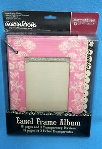 """5"""" x 7"""" Berry Bloom Easel Frame Album by Creative Imaginations NIP/NOS"""