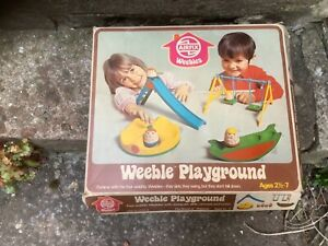 Weeble Playground X5 Weebles Airfix 1970's Boxed + sailing boat collection only
