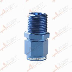 "Aluminum Straight 6AN AN6 Female To 3/8"" NPT Male Thread Fitting Blue"