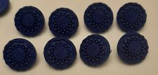 8 x 18mm Blue Round Plastic Shank Buttons H0112 Great for Flower Centres!!!!!!