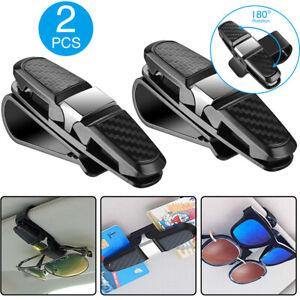 2x Car Auto Sun Visor Glasses Sunglasses Card Ticket Holder Clip Universal Black