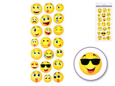 Medium Happy Face Emoji Icon Stickers Round Messenger DIY (21pc Sheet)