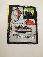 """Serigraph By Julio Girona Of The Serie """"Marcas Del Tiempo"""""""
