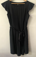 Mossimo black pleated dress with belt- size L - fits a 10 to 14
