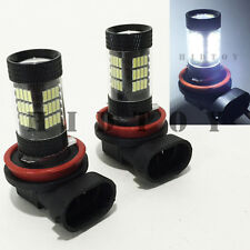 H11 Samsung LED 57-SMD Canbus Bright White 6000K Headlight 2x Bulb #Gd1 Low Beam