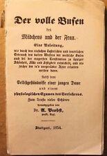 Probst : Der volle Busen des Mädchens und der Frau.. 1854