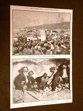 Traforo del Loetschberg nel 1911 Commemorazione vittime Squadre Carro del corteo