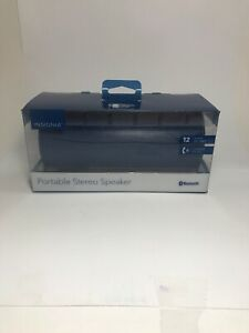 Insignia NS-SPBTBRICK2-BL WAVE 2 Portable Bluetooth Speaker Blue NEW OPEN BOX🔥