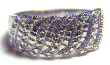 VERY NICE BRILLIANT WAVE CLASSIC WOMENS/GIRLS COCKTAIL RING SIZE 10