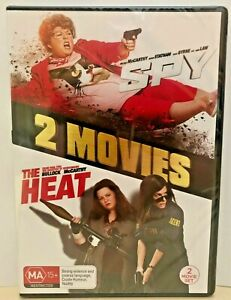 SPY / THE HEAT DVD, DOUBLE FEATURE, NEW & SEALED, 2 DICS, FREE POST