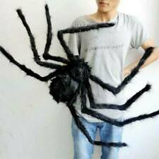 Halloween Giant Black Furry Spider Kid Toys Party Outdoor Haunted House Decor US