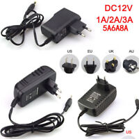DC 5/6/9/12V 1/2/3A AC Adapter Charger Power Supply for LED Strip Light New