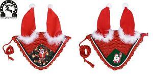 Christmas Ear Bonnet / Horse Ears Santa Claus Fly Veil