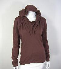 UNCONDITIONAL NWT LONG SLEEVE SWEATER SIZE M Medium Hooded Merino Wool DRY ROSE