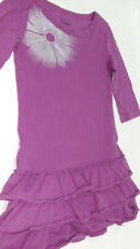 Old Navy purple and silver dress with ruffled skirt and flower graphic
