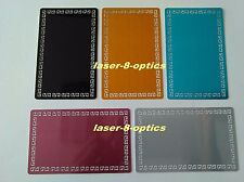 100pcs Colorful blank metal business cards Laser marking material Lace