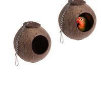 Kokosnuss Shell Vogel Nest Haus Hütte Käfig Feeder Pet Papagei Sittich Spielzeug