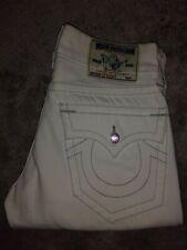Authentic True Religion STRAIGHT Men's Optic White Jeans 29 x 34