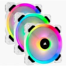 Corsair LL120 RGB 120mm Dual Light Loop PWM Fan, White - 3 Pack (CO-9050092-WW)